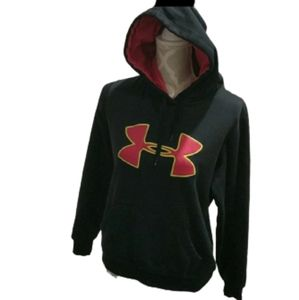 Under armor black and pink and yellow hood…